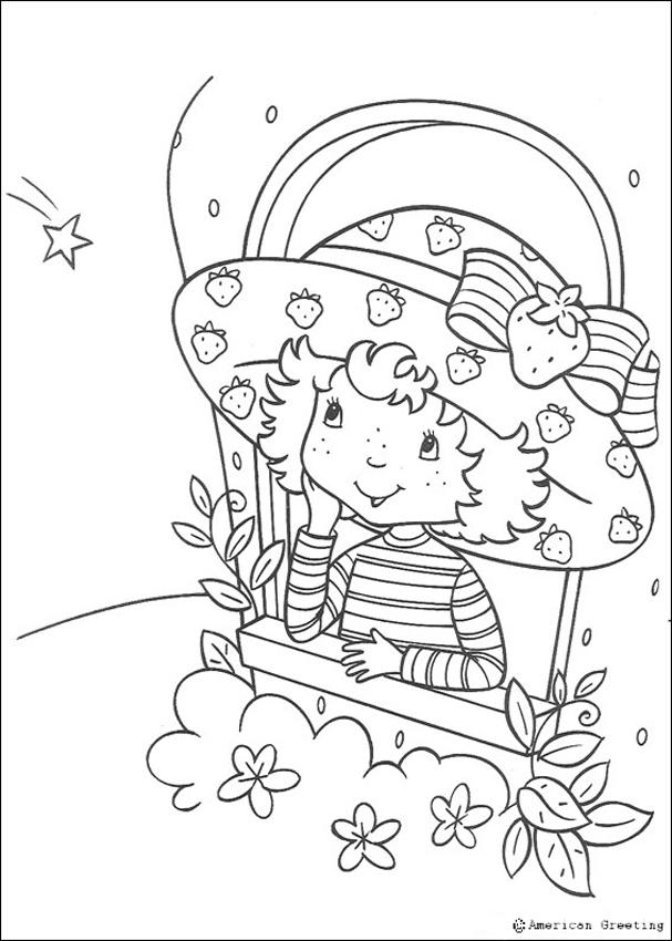 ROSITa Strawberry Colouring Pages